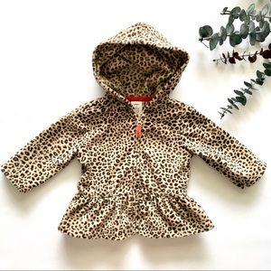 3M Baby Cheetah Print Ruffle Zip-Up